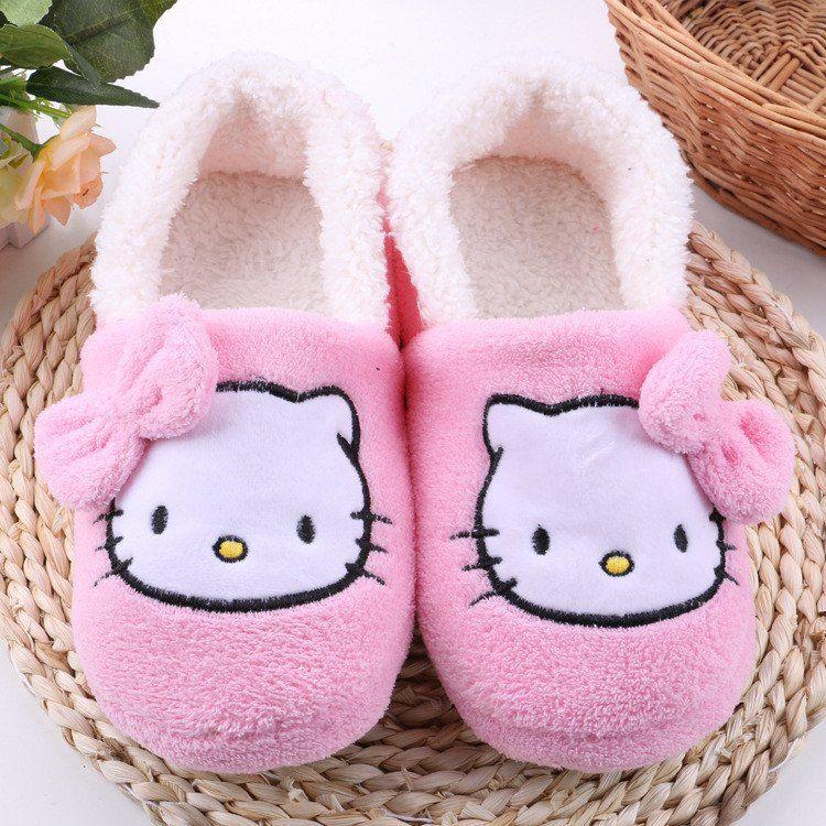 House Slippers 2016 Hot Hello Kitty Plush Warm キティ