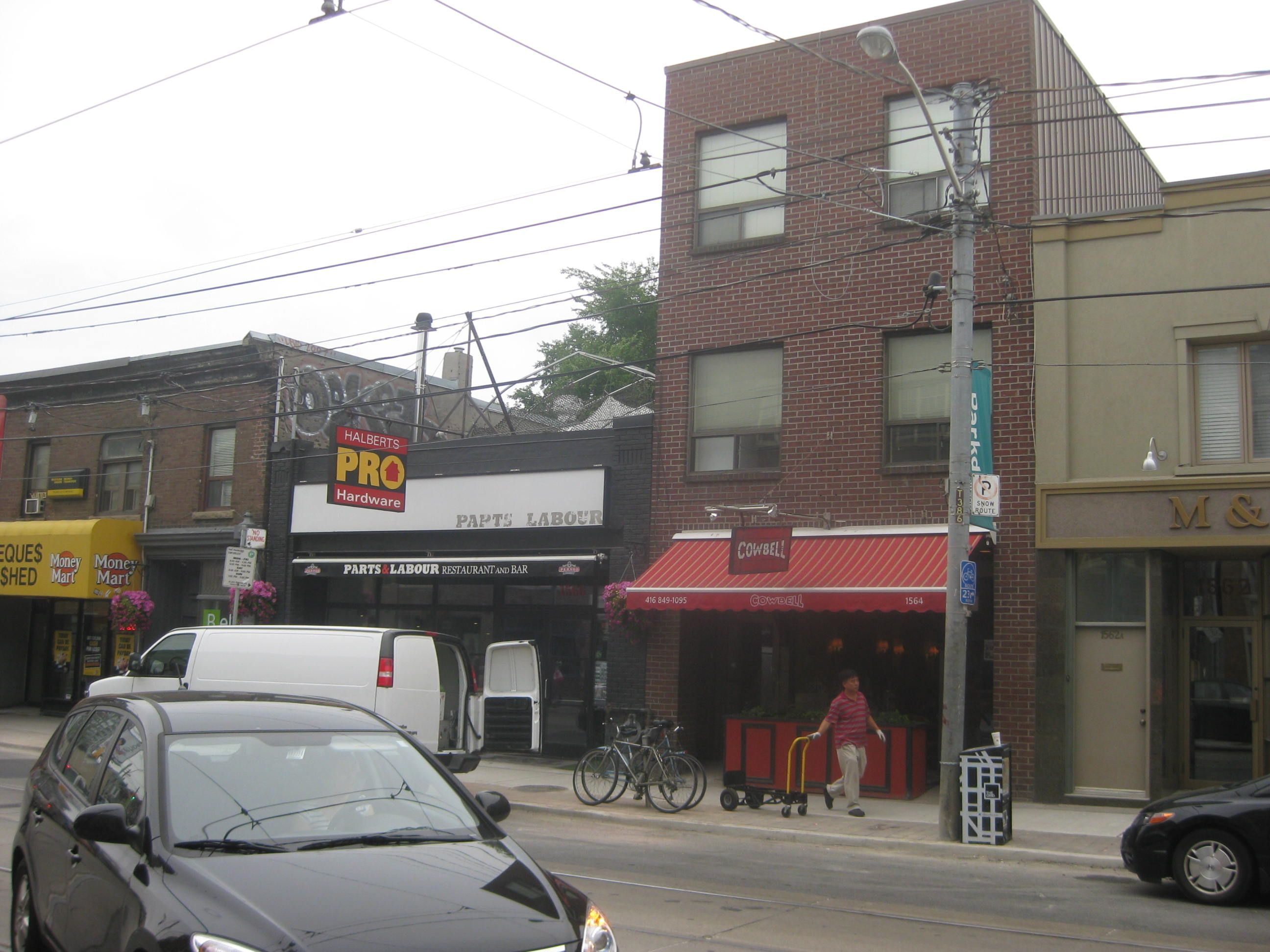 parts labour formerly a hardware store now a hip and happening resto