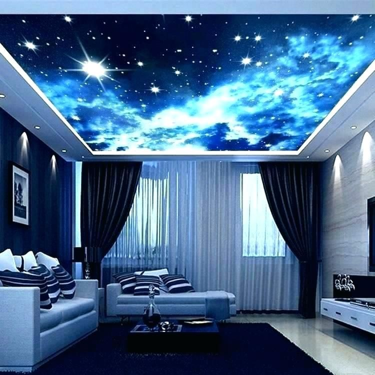 Galaxy Room Movie Film Recherche Google False Ceiling Design Ceiling Murals Bed In Living Room