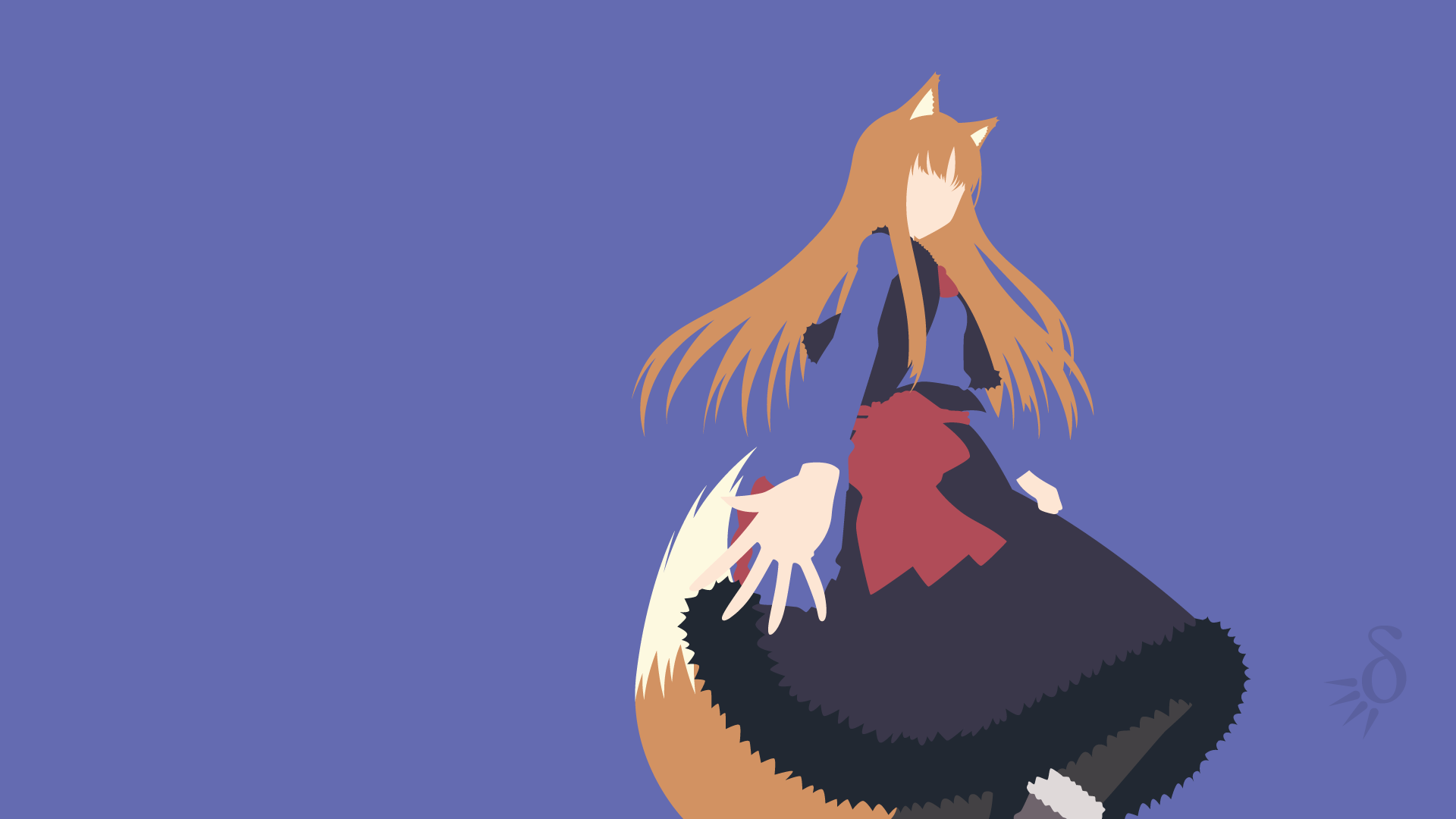 Spice And Wolf Spice Wolf Holo Spice Wolf Minimalist Wallpaper