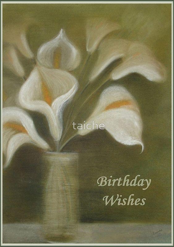 Calla Lilies Birthday Wishes