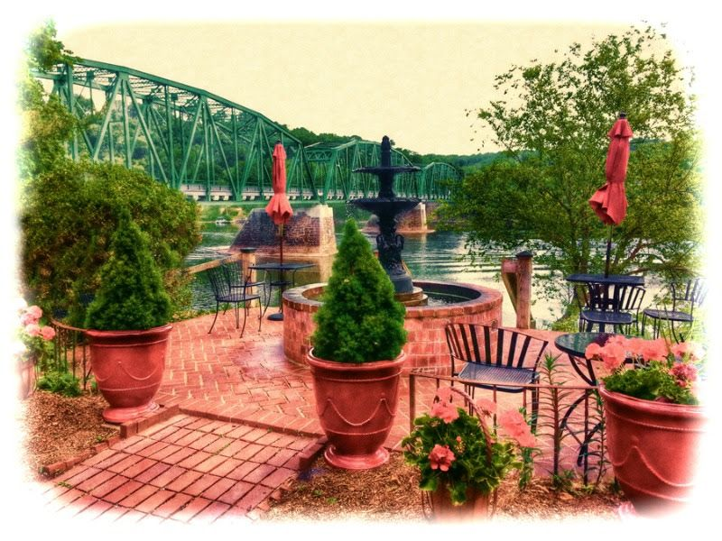 A perfect spot for tea or sherry, riverside at Bridgeton