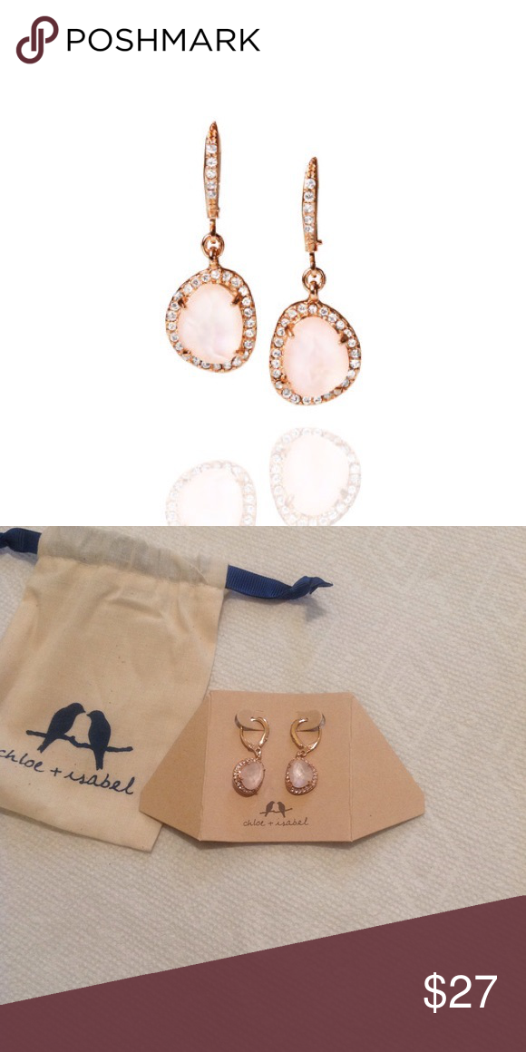 La Vie en Rose Drop Earrings Boutique Romantic Chloe and Plating