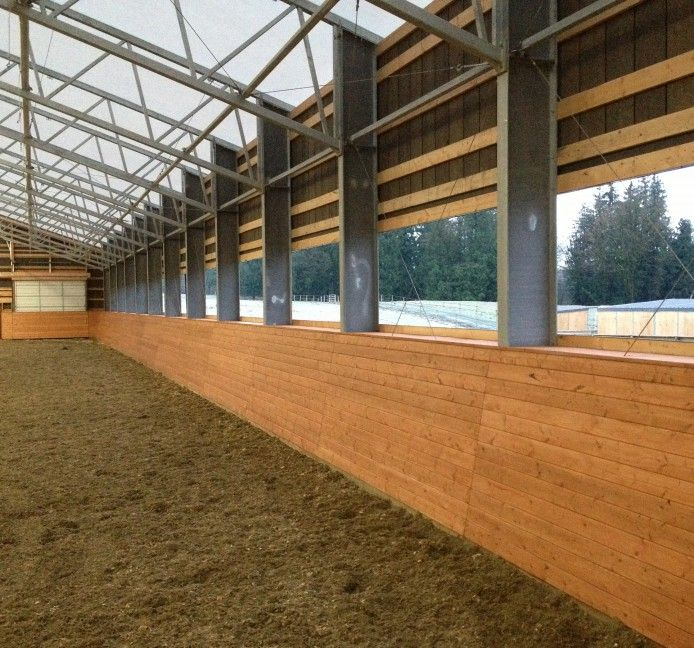 Indoor Riding Arena With Stalls: Abbotsford Riding Arena - Rising Structures Ltd