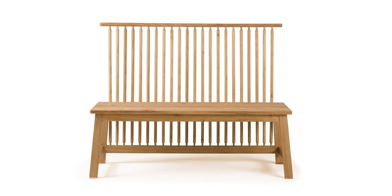 Two Seater Bench with Back -Studioilse