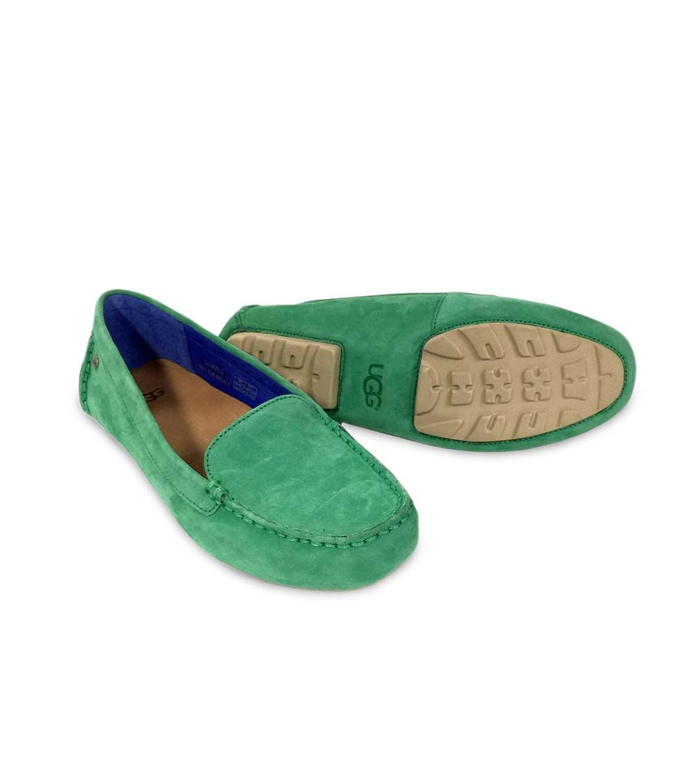 green ugg moccasins