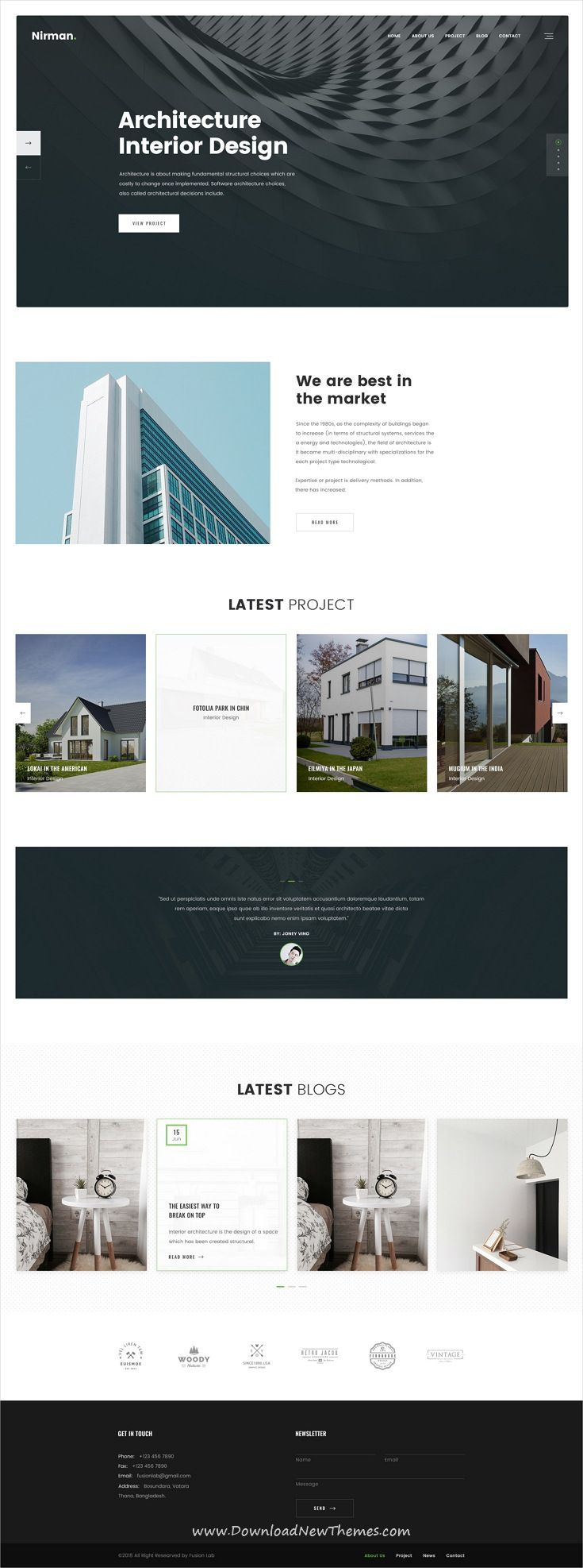 Umbra is the premium PSD template for interior and furnitu
