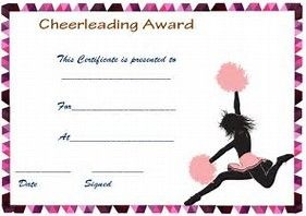 Image result for free printable cheerleading award certificate image result for free printable cheerleading award certificate templates yadclub Images
