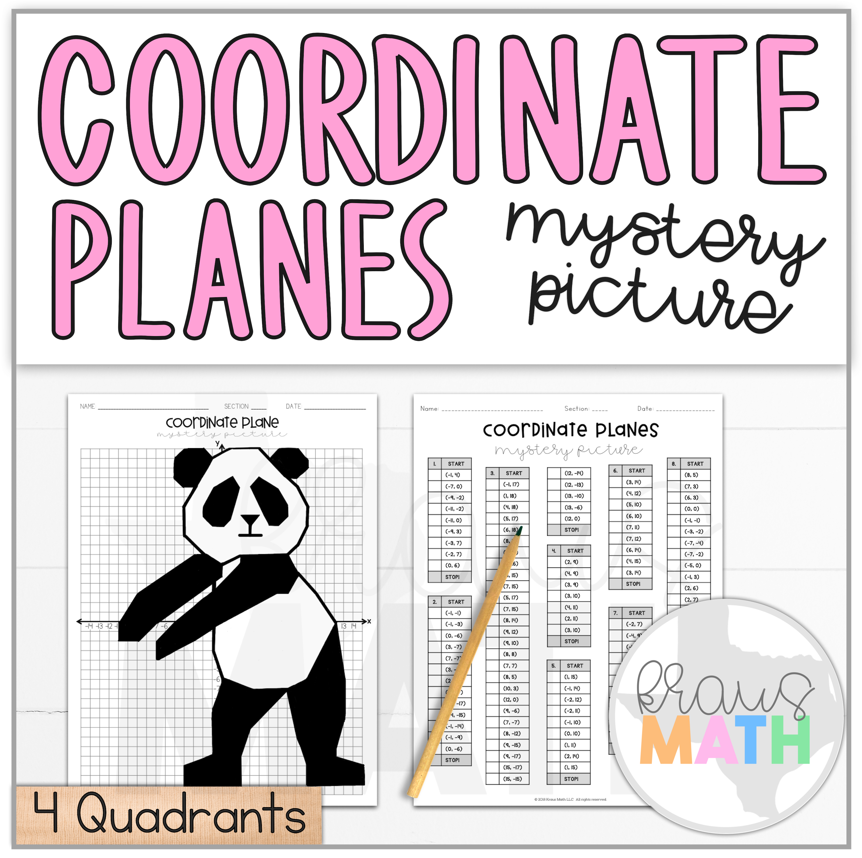 Panda Floss Dance Coordinate Plane Activity 4 Quadrants