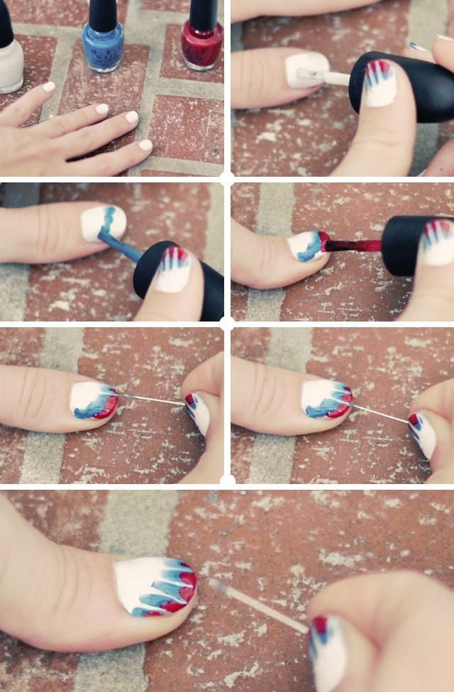Diy Tips Nails Art 2017 2018 Cool And Easy Tie Dye Nails