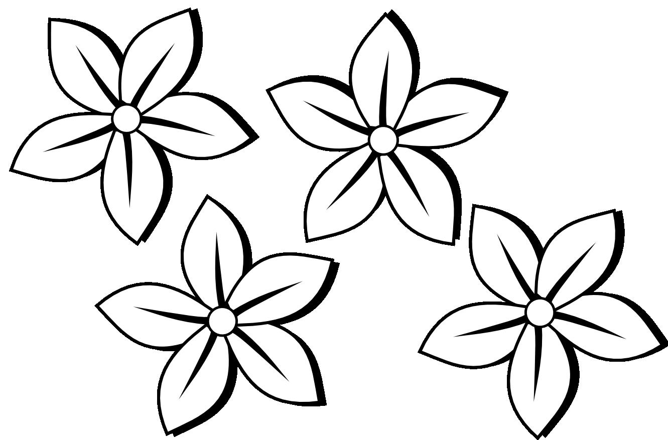 45+ Flower Design Clipart Black And White