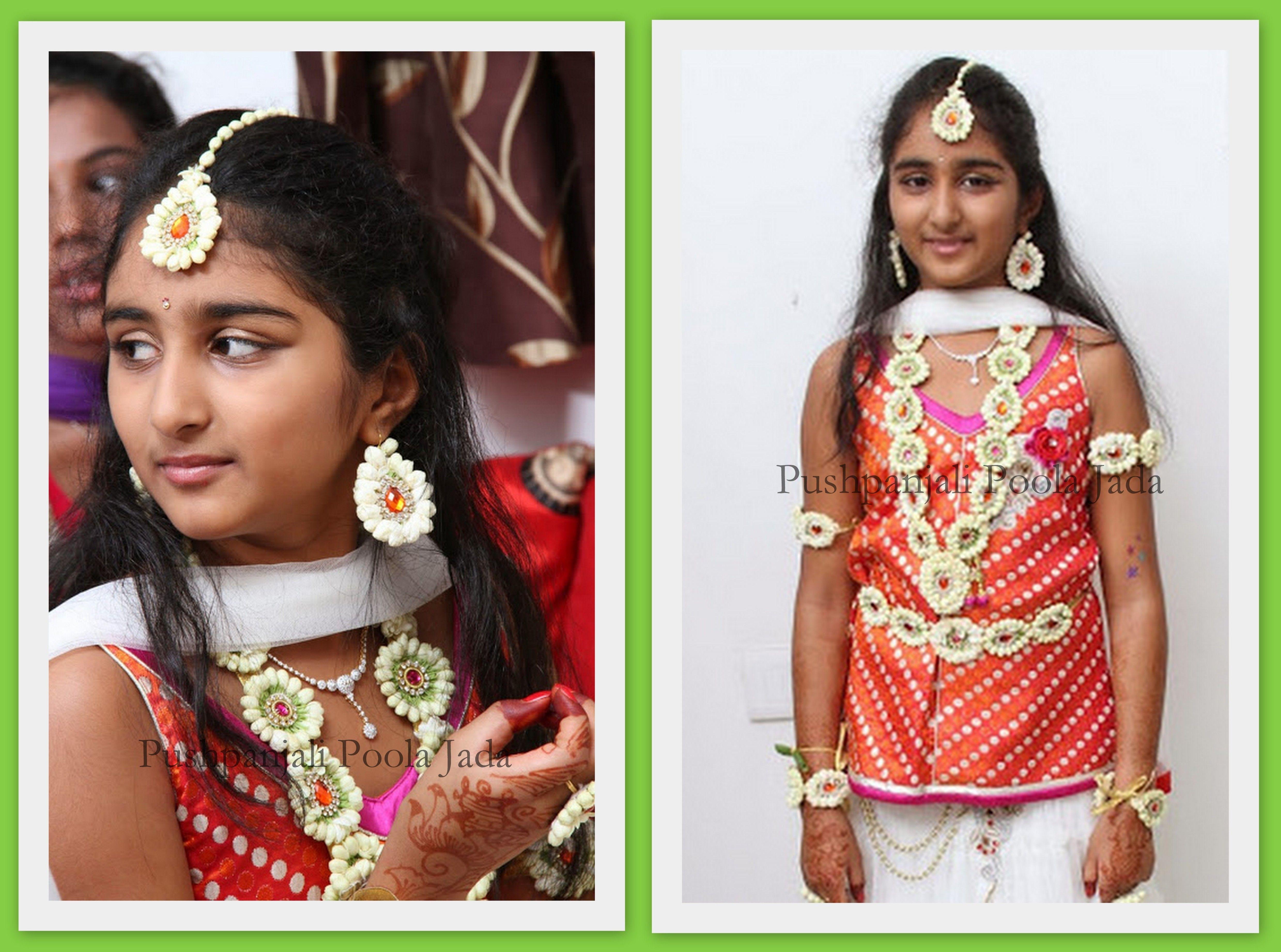 flower jewellery made with real jasmine buds Haldi