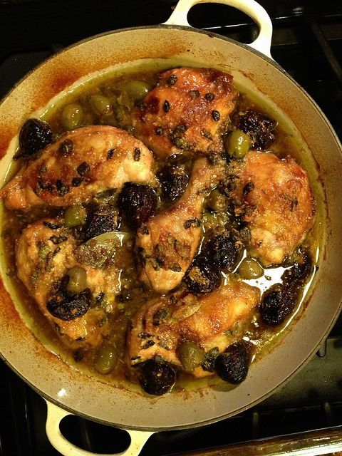 Chicken Marbella. Easy and delicious! I substituted figs for prunes. Tip: separate out half the liquid to reduce more quickly. #chickenmarbella Chicken Marbella. Easy and delicious! I substituted figs for prunes. Tip: separate out half the liquid to reduce more quickly. #chickenmarbella