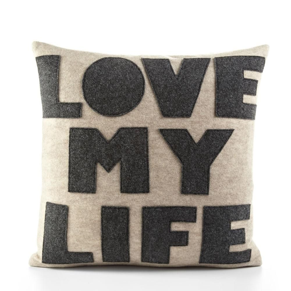 Pillow Dimensions 16 X 16 Approx Recycled Polyester Fill Insert Included The Felt That I Use Is Applique Pillows Modern Throw Pillows Decorative Pillows