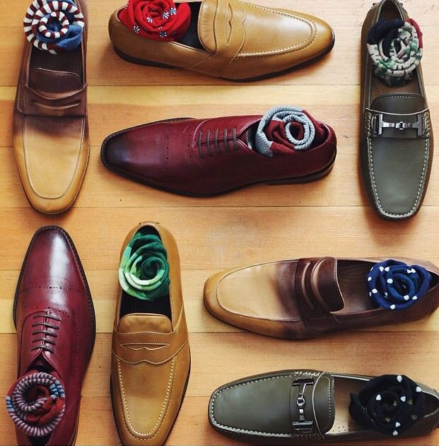 Nice shoe and sock combinations