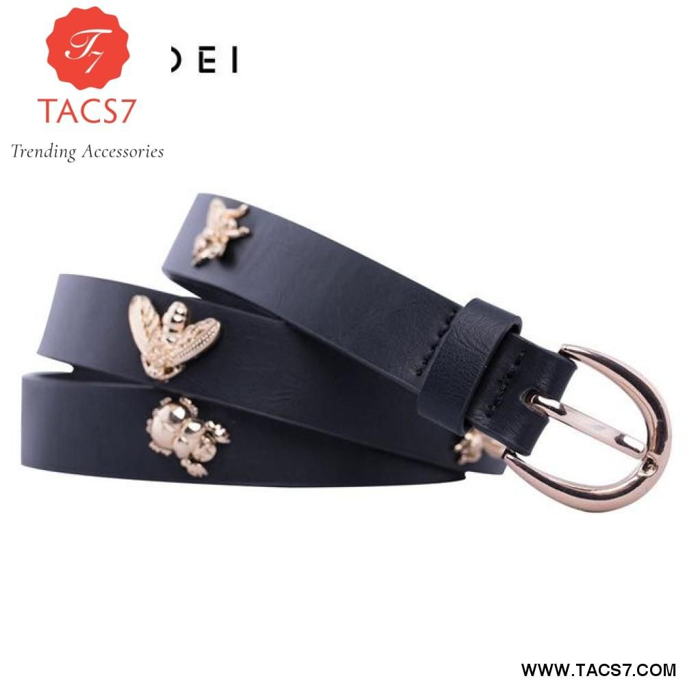 IFENDEI Skinny PU Leather Belt For Women Fashion Belt Decorated With I –  Trending Accessories 44c41ff2465f