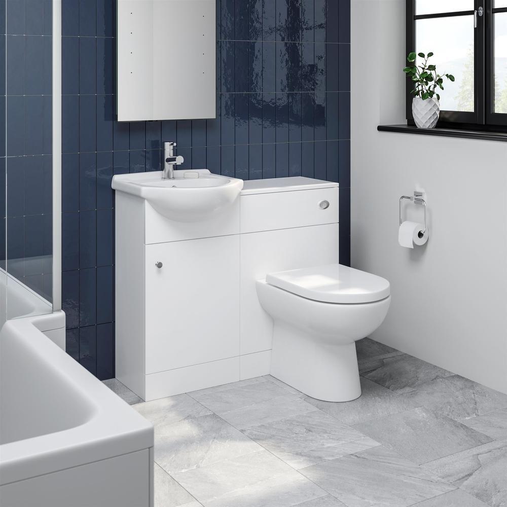 Alpine Matte White Toilet Basin Vanity Unit 910mm 300mm Depth High End Quality Internet Only P Basin Vanity Unit Vanity Units Bathroom Furniture Modern