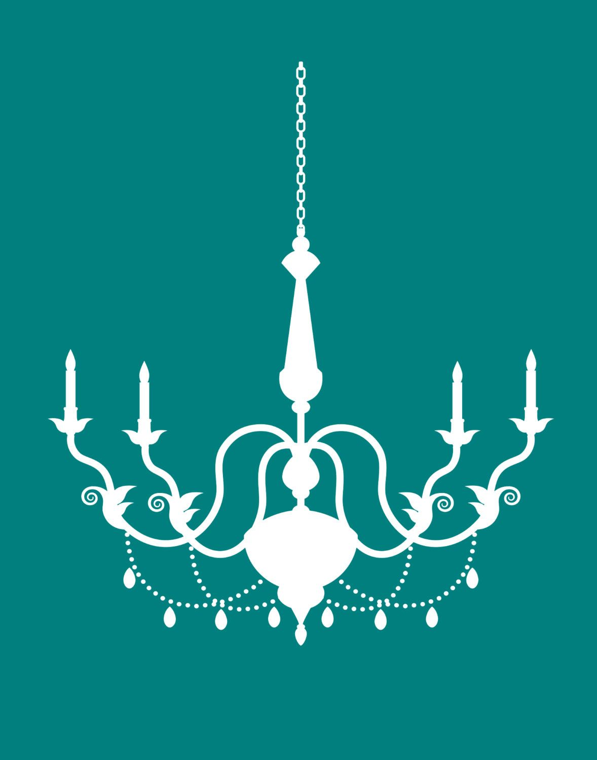 Chandelier print trio set of x chandelier silhouette posters