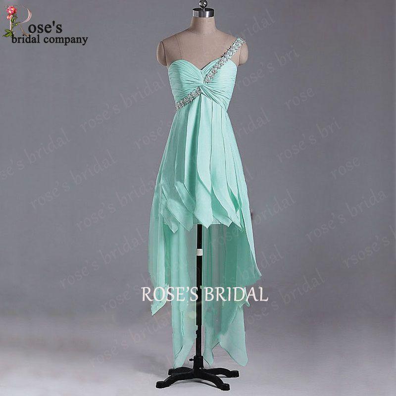 Mint Green Chiffon Prom Dress