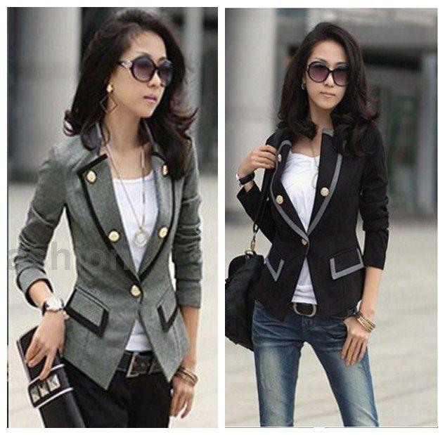 Fashion Hot Women Business Suit Jacket Casual Blazer Slim OL Coat Outwear Tops
