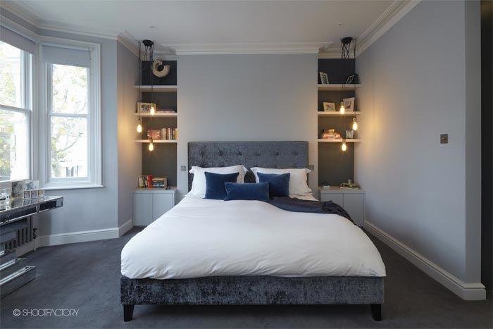 Una casa en Londres decorada en azul, blanco y gris · A blue, white