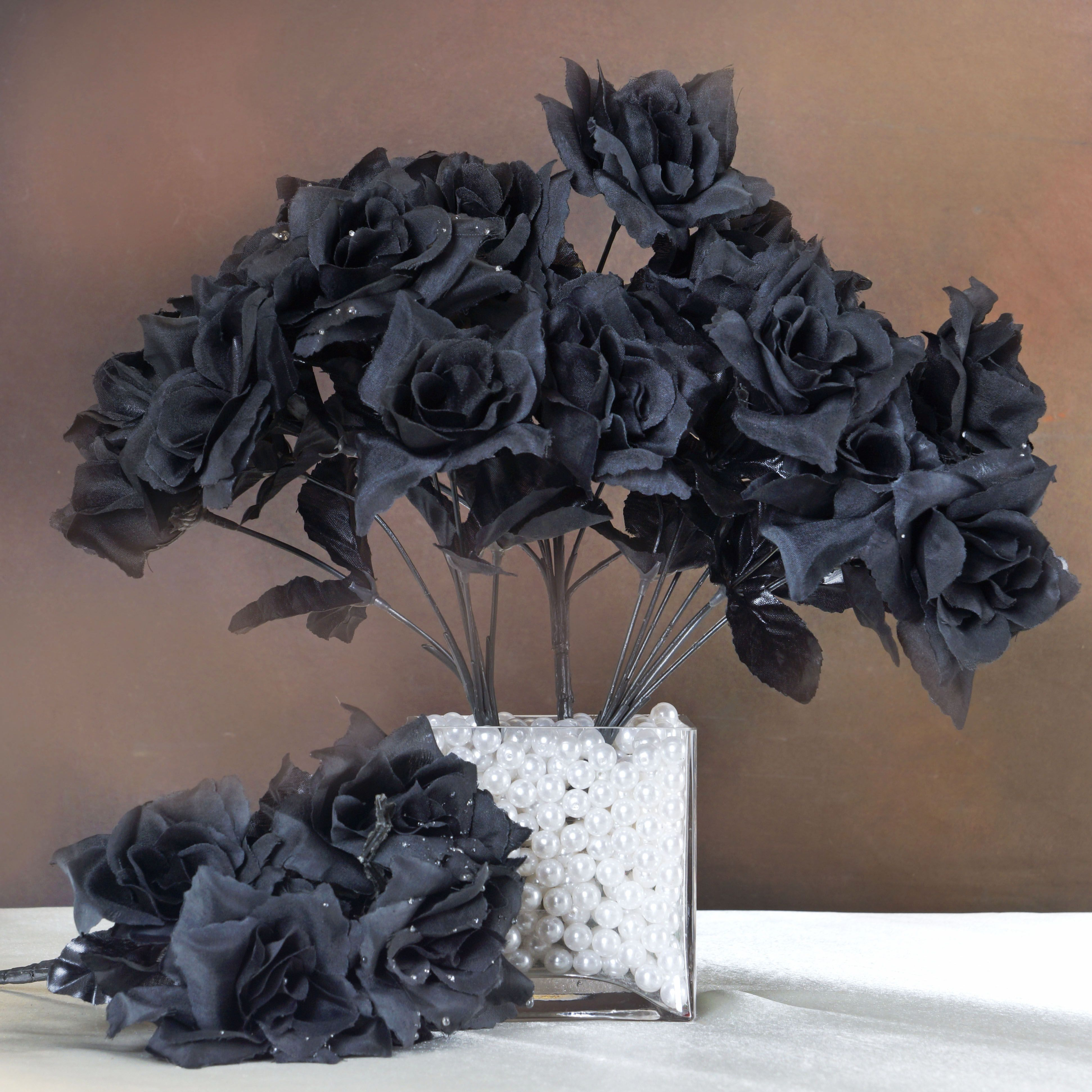 12 Bushes 84 Silk Open Roses Wedding Bouquets Flowers Supply
