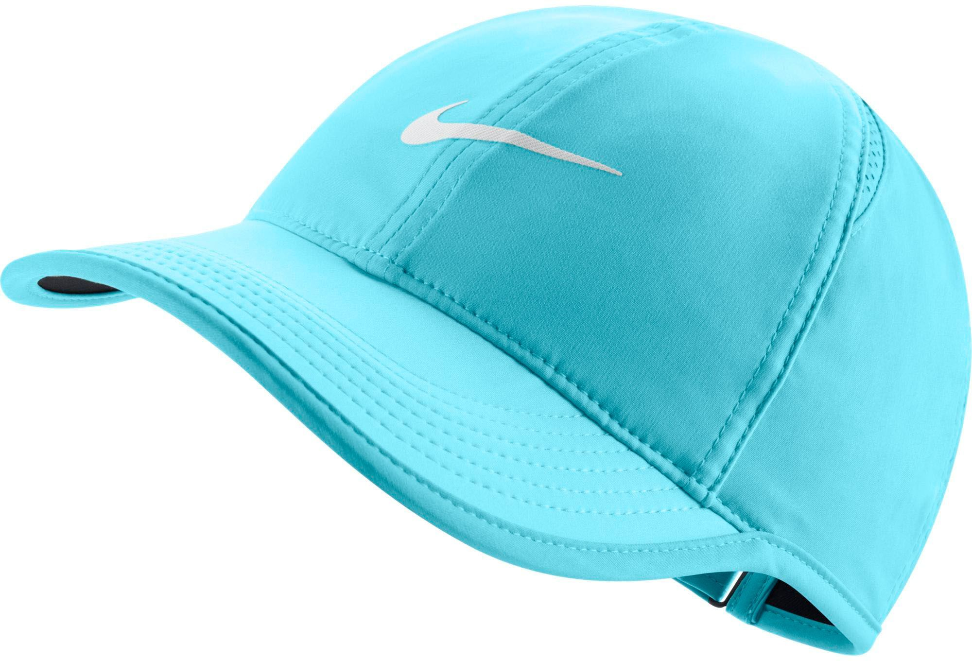 c7cc6130bb05f Nike Women's Feather Light Adjustable Hat, Blue Embroidered Hats,  Embroidered Baseball Caps, Fitted