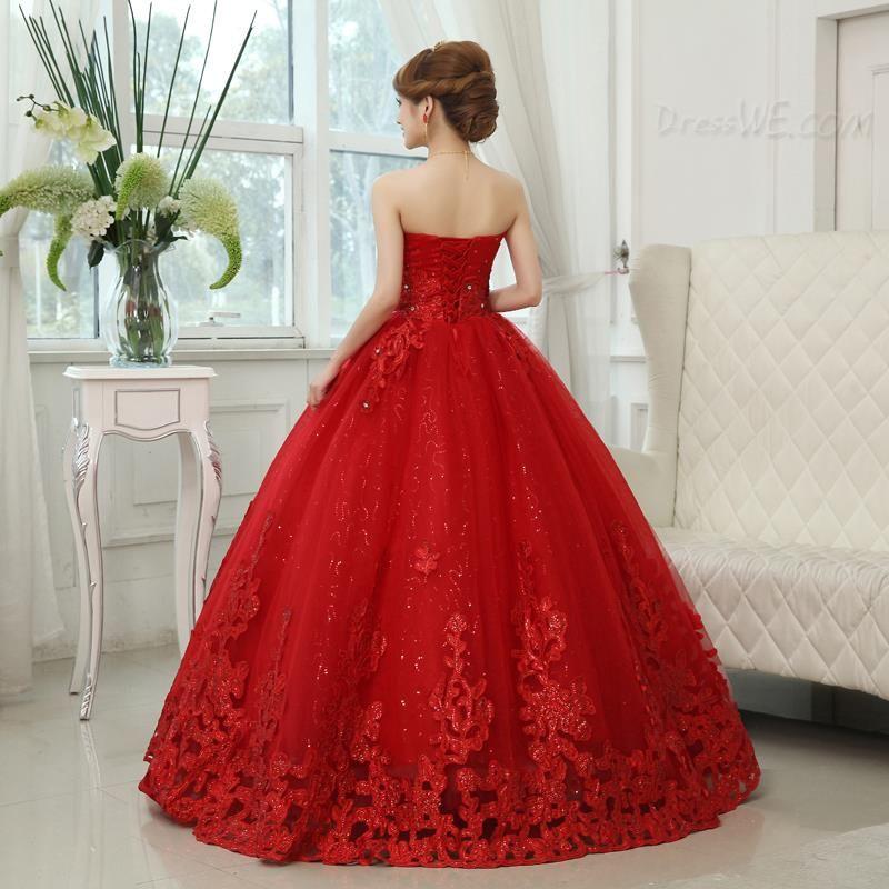 4e6e068b46 Dresswe.com SUPPLIES Modern Sweetheart Beading Appliques Ball Gown Wedding  Dress Ball Gown Wedding Dresses (2)
