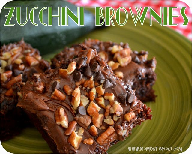 Zucchini Brownies - Say WHAT? {#Recipe} - Mom On Timeout