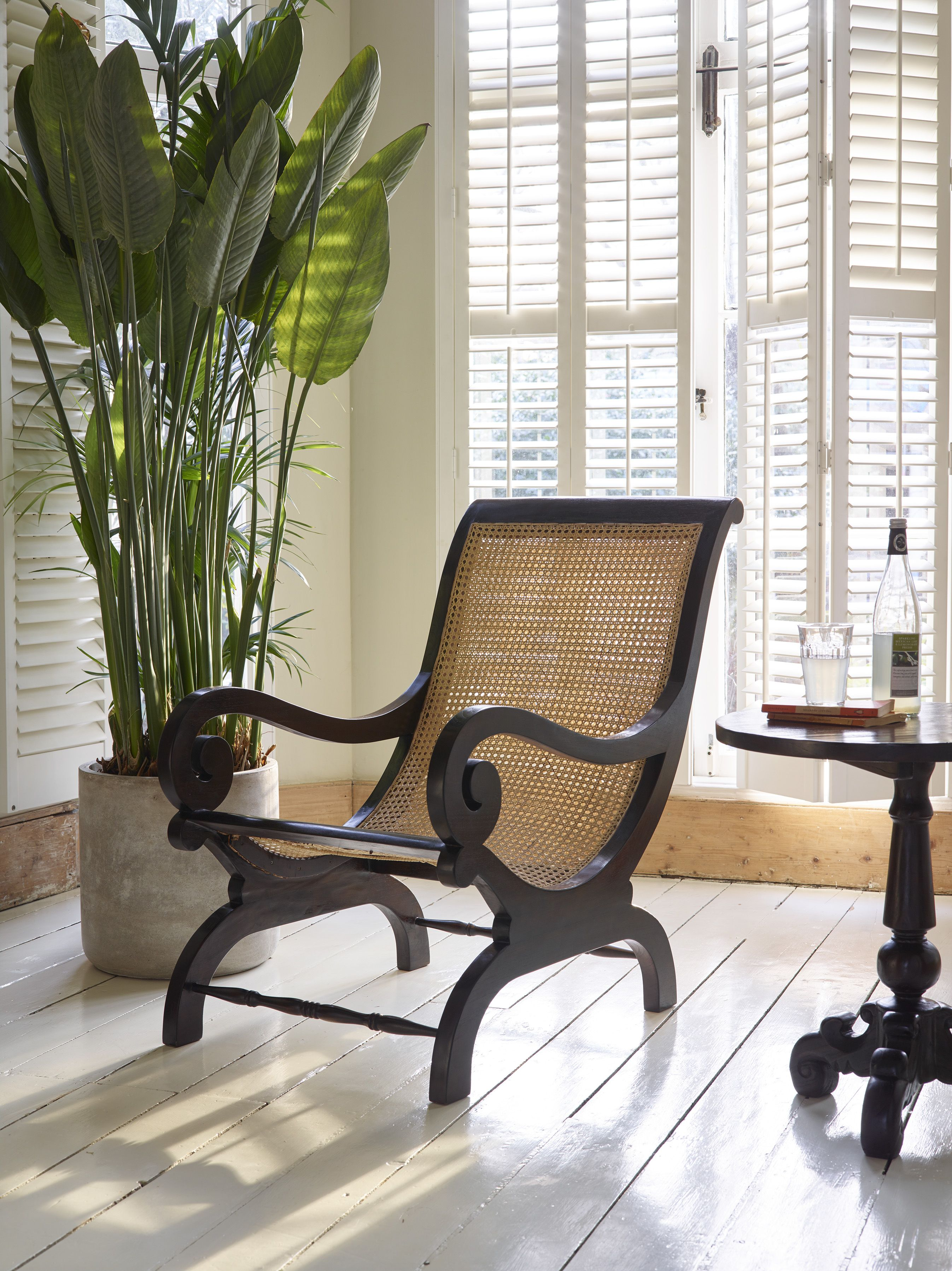 Lazy Chair colonial style wicker backed armchair from