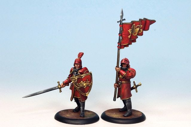 A Lannister Guards And The Halberdier Bannermen Painted By The