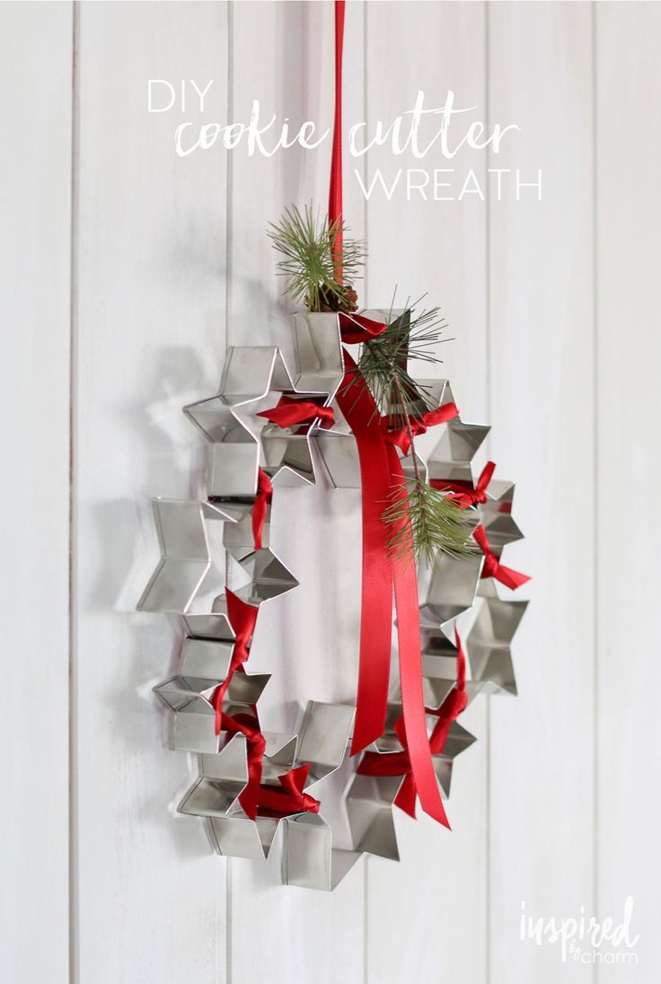DIY Cookie Cutter Wreath | Cookie cutters, Wreaths and Xmas crafts