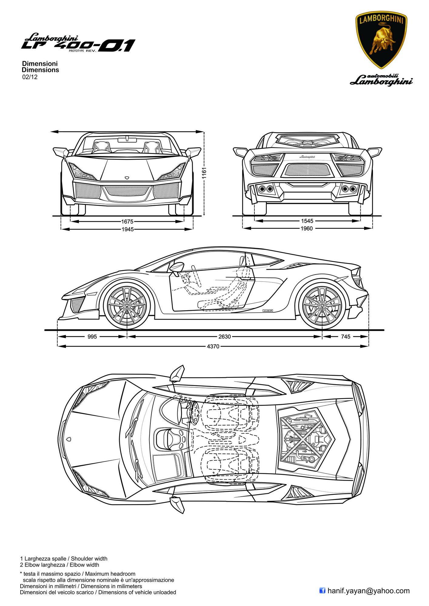 Lamborghini veneno blueprint images for Blueprint sizes