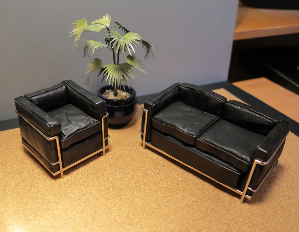Dolls House Miniature Le Corbusier Sofa And Chair By Kim Selwood
