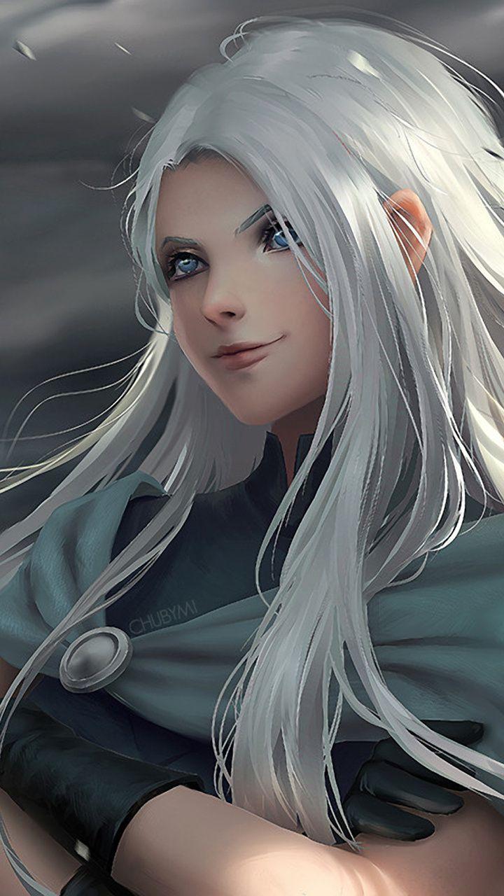 Fantasy, woman, white hair, art, 720x1280 wallpaper ...  Fantasy, woman,...