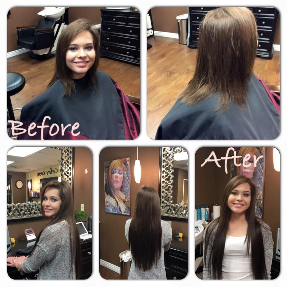 Short2long Hair Extensions Tape In Method And 22 Inches Long