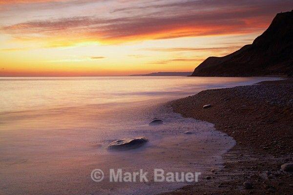WD026 Sunset, Eype's Mouth - West Dorset