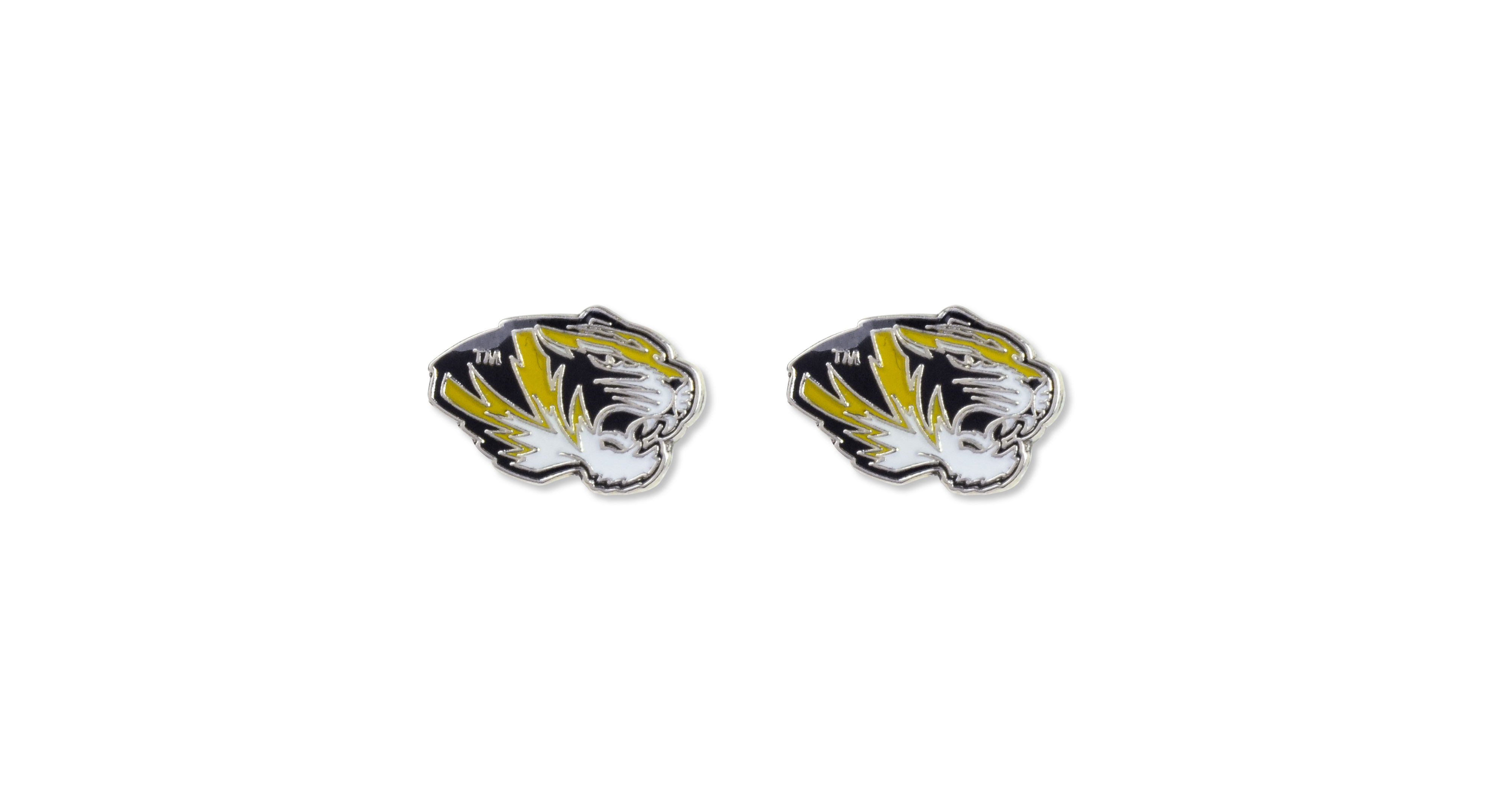 Aminco Missouri Tigers Logo Post Earrings