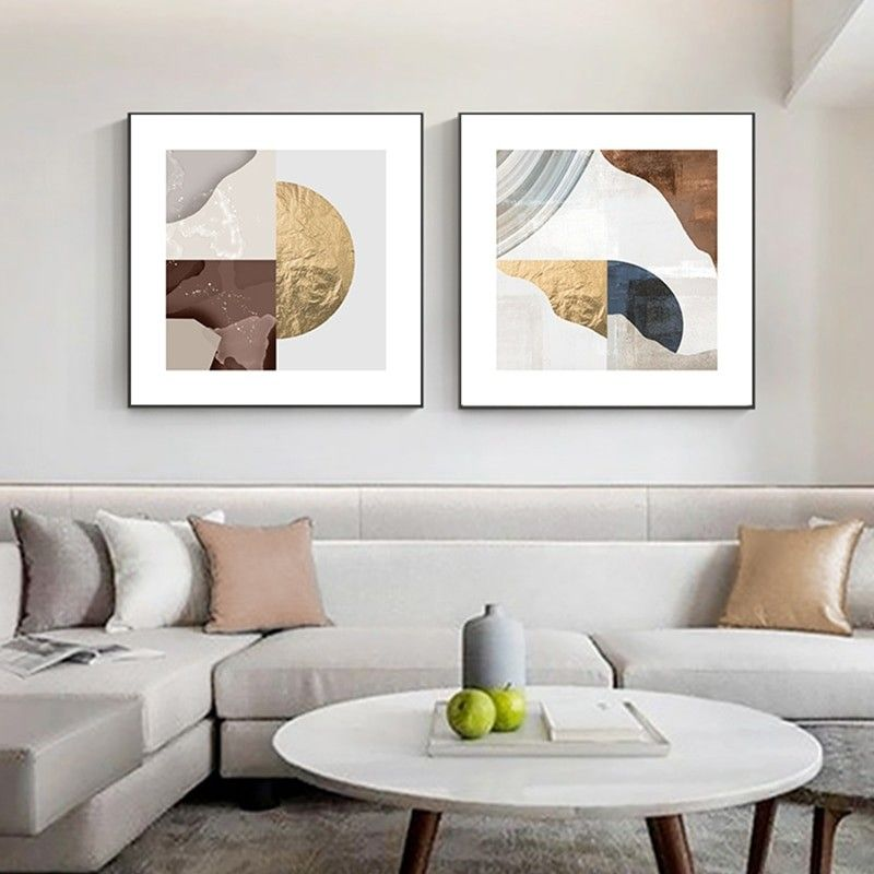 Modern Abstract Golden Foil Canvas Painting Blue Print Poster Big Wall Art Picture For Living Room Nordic Tableaux Blue Poster In 2021 Big Wall Art Living Room Art Prints Wall Art Wall art prints living room