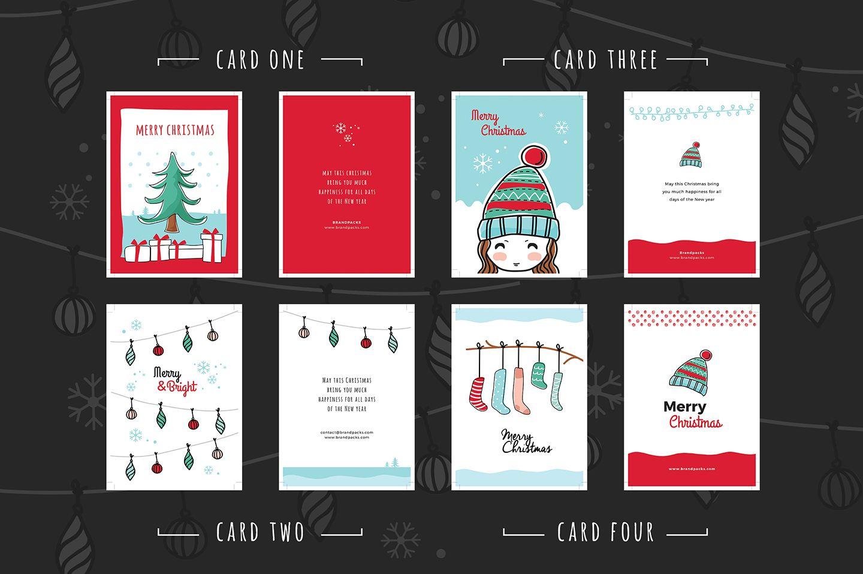 Free christmas card templates for illustrator