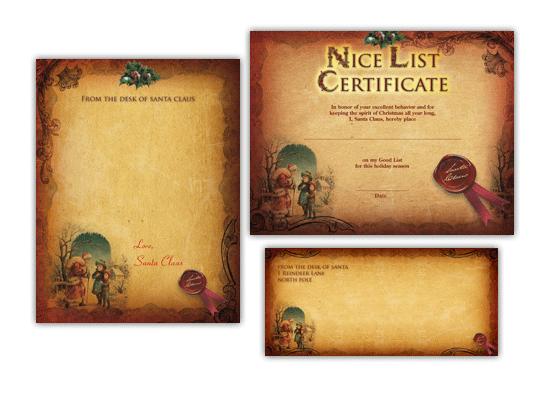 Free printable santa certificates vatozozdevelopment free printable santa certificates spiritdancerdesigns Images