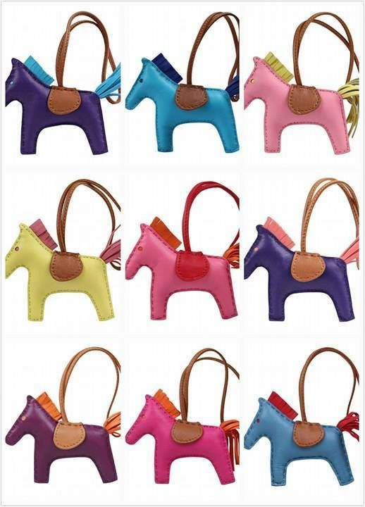 a8b21937f7f Details about Real genuine leather Rodeo Horse Pony bag charm ...