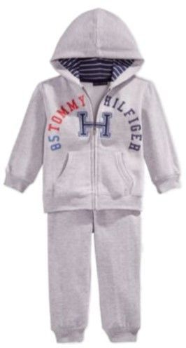 1387d4fd9 Tommy Hilfiger Infant Boys 2 Piece Gray Hoodie Jacket & Sweat Pants Set 24m