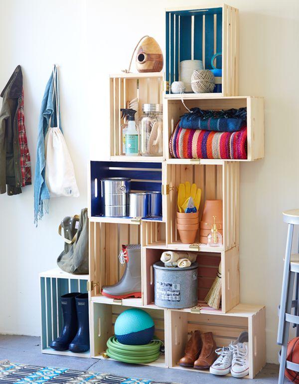 7 repisas con cajones de frutas 4thehome crate shelves - Cajones de madera para frutas ...