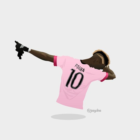Paul Pogba Dab Celebration Illustration A4 A3 Poster Football Pictures Football Poster Soccer Artwork