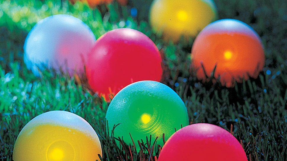 LED Bocce Ball Set Beach games, Backyard games, Yard games