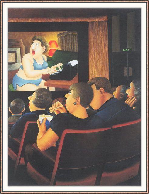 *At the Cinema. Artwork by Beryl Cook