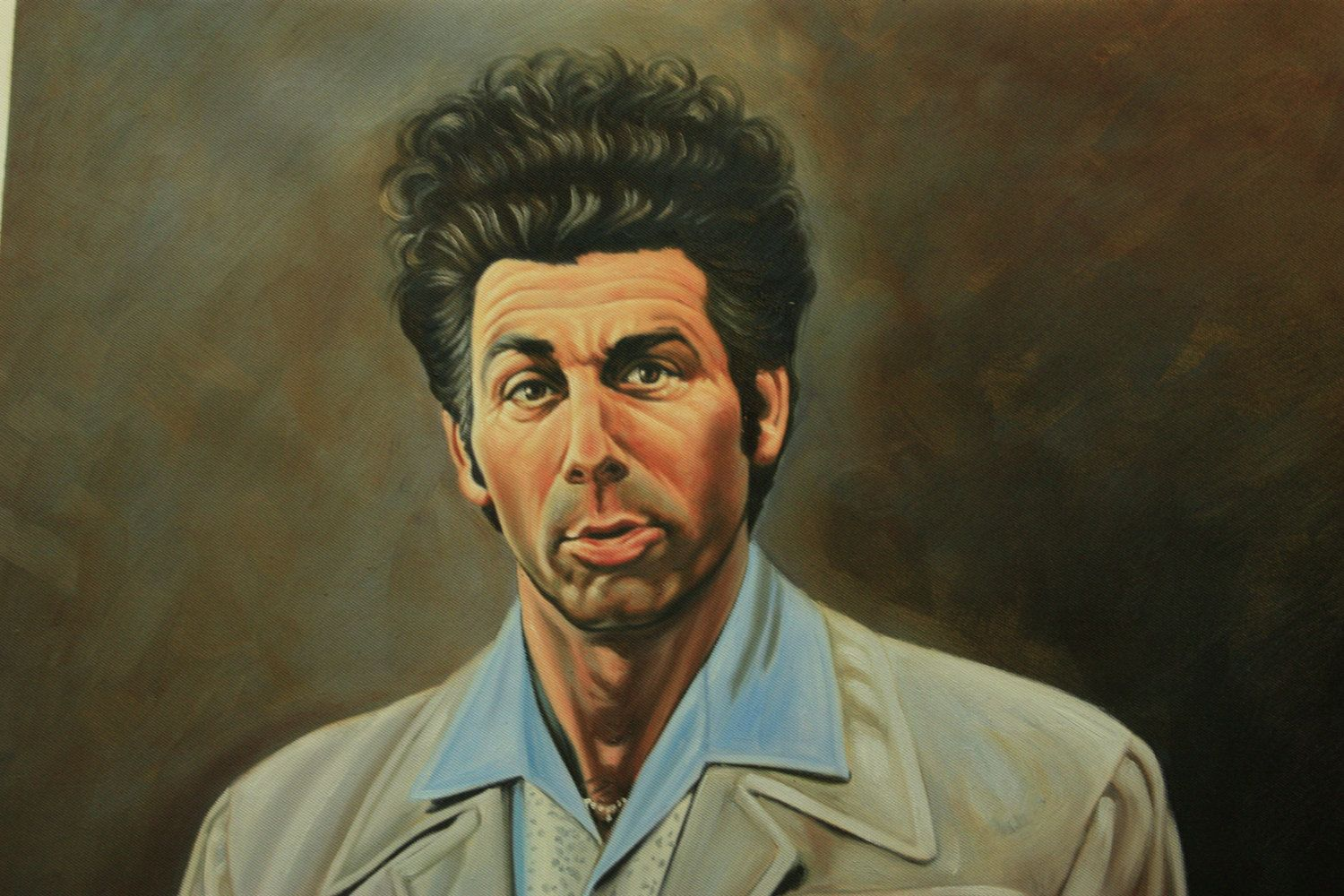 Seinfeld Cosmo Kramer Reproduction Painting 24x36 100 Money