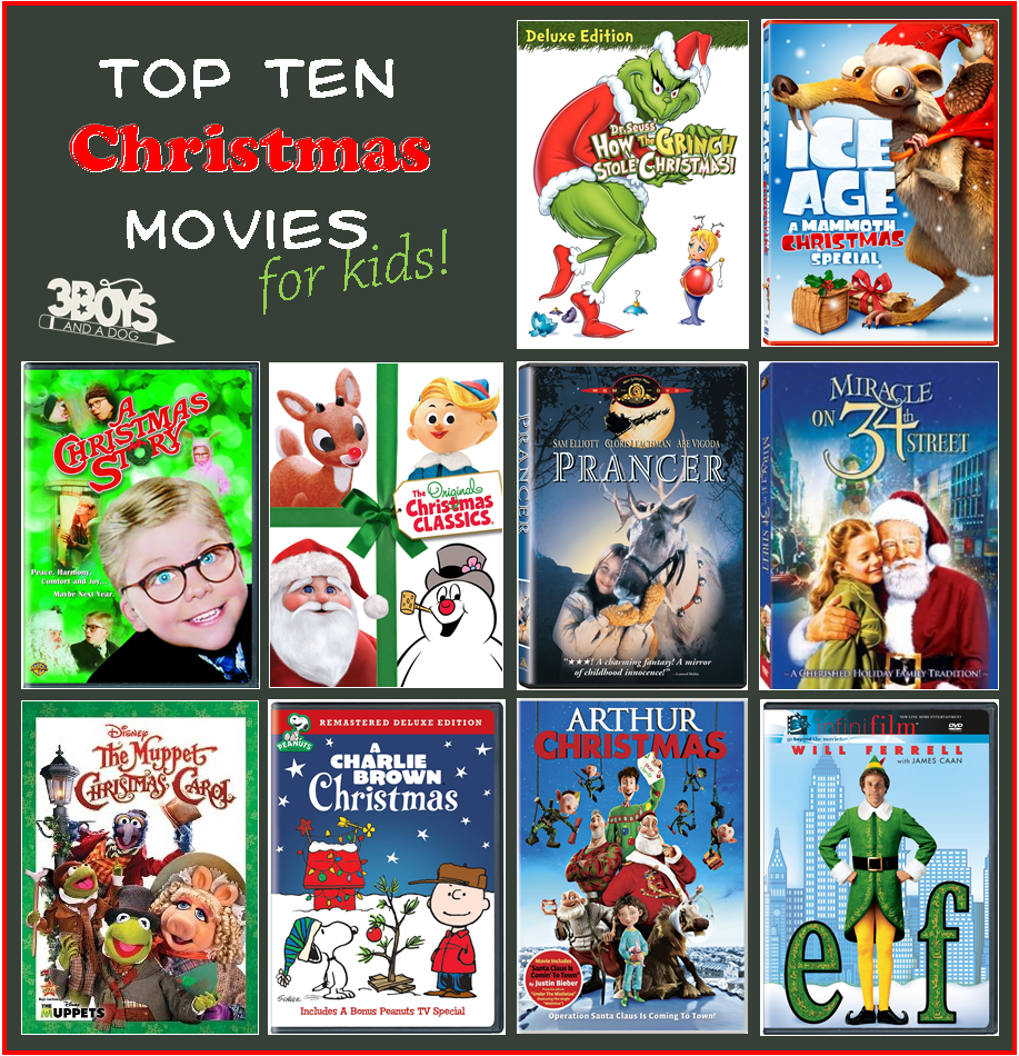 Top 10 Christmas Movies List For Kids Kids Christmas Movies Christmas Movies Top 10 Christmas Movies