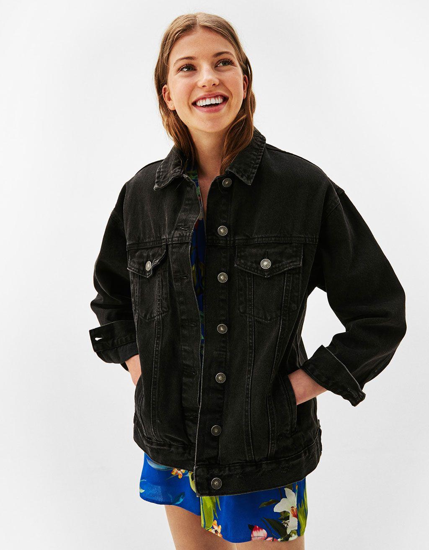 Veste en jean clair femme bershka